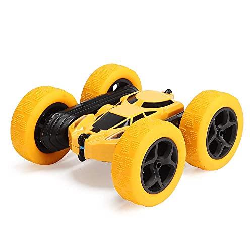 KTDT Camión de vehículos de Carreras, 4WD RC Stunt Car 2.4Ghz Doble Cara Giratorio 360 ° Coche de Control Remoto, Juguete de Regalo para cumpleaños de niños (batería no incluida)