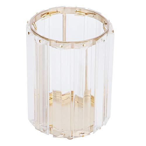 SALALIS Portalápices de Cristal, Hierro galvanizado Elegante y Hermoso contenedor de Herramientas cosméticas para Cualquier decoración de su tocador o encimera para un Regalo