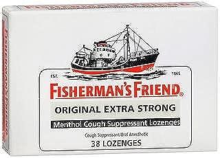 Fisherman's Friend Original Extra Strong Menthol Cough Suppressant Lozenges - 38 lozenges, Pack of 3