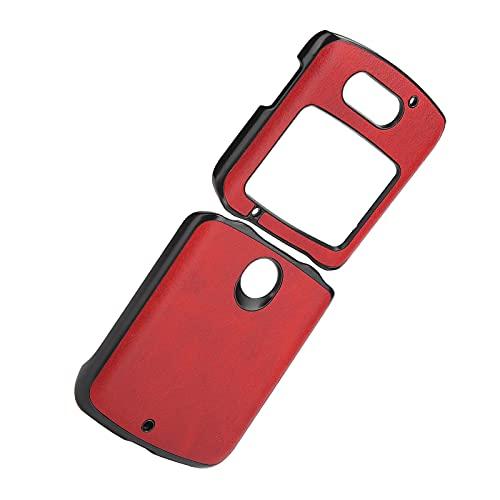 Handyhüllen Stoßfeste Handy Lederhülle Handy Lederhülle Hülle für Motorola Handy Lederhülle für Motorola Razr 5G(red)