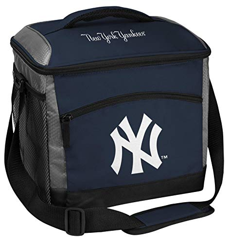 Rawlings MLB Soft Sided Insulated Cooler Bag, 24-Can Capacity, New York Yankees, Black (10200030111)