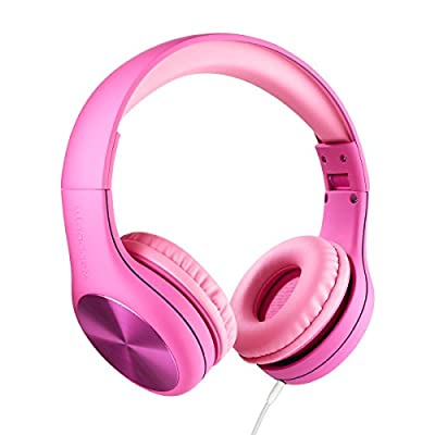 New! LilGadgets Connect+ PRO Kids Premium Volume Limited Wired Headphones with SharePort and Inline Microphone (Children) - Pink from LilGadgets
