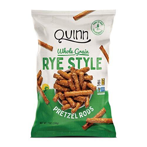 Quinn Non-GMO and Gluten Free Pretzels, Deli Style Rye (3 Count)