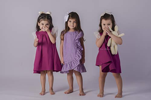 vestido niña fiesta morado Masha