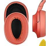 Geekria Almohadillas de repuesto para auriculares Sony MDR-100ABN WH-H900N, almohadillas de repuesto, almohadillas para los oídos, almohadillas para los oídos, piezas de reparación (rosa-naranja)