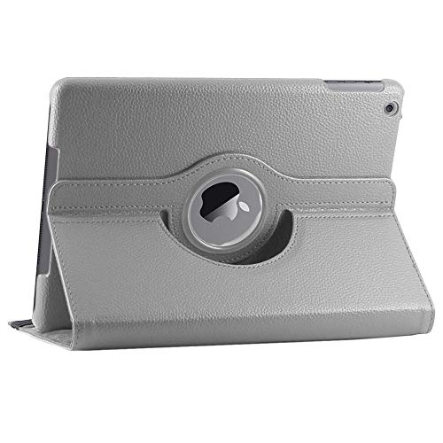 ebestStar - kompatibel mit iPad 2018 Hülle iPad 9.7 2017, Air 1 2013 Rotierend Schutzhülle Etui, Schutz Hülle Ständer, Rotating Hülle Cover Stand, Grau [iPad: 240 x 169.5 x 7.5mm, 9.7'']