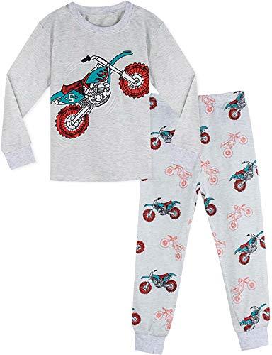 MOMBEBE COSLAND Pijama Motocicleta Niños Manga Larga (3 años, Motobike)