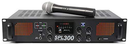 Skytec SPL-300VHF - Amplificador con M3 y micrófono