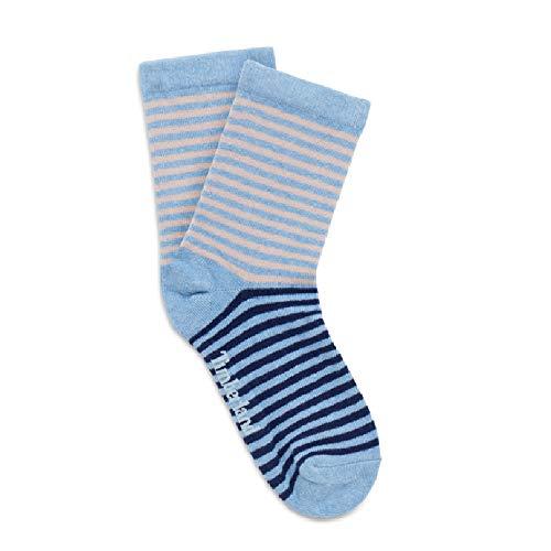 Timberland Damen Socken mit Streifenmuster (2 Paar) (L) (Blau)