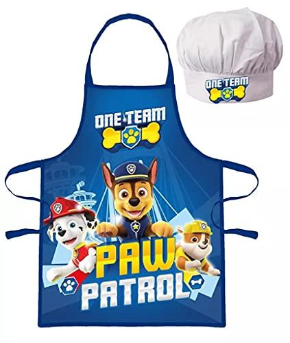 Tablier + Toque Chef Cuisinier Pat Patrouille Paw Patrol Déguisement enfant 3 à 8 ans