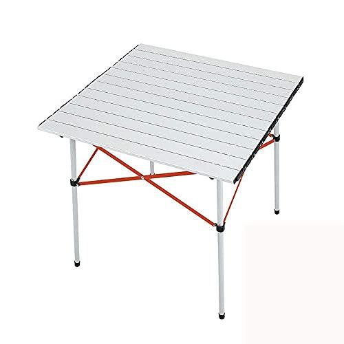 ZCZZ Mesa Plegable para Acampar al Aire Libre, portátil de Aluminio, pequeña Plegable con Bolsa de Almacenamiento Plegable para Fiesta en el jardín