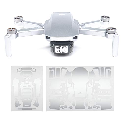 WRAPGRADE Skin Compatibile con DJI Mavic Mini (Airforce Silver)