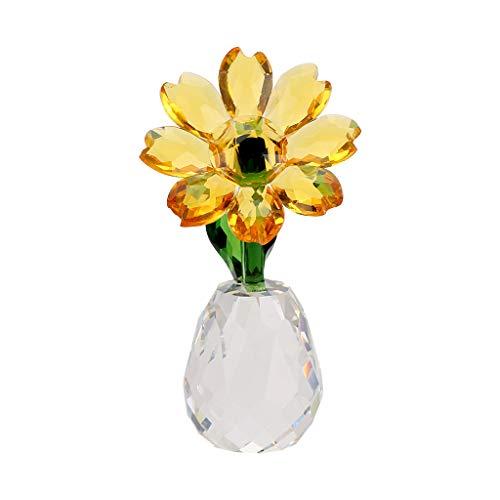 Crystal Sunflower Glass Ornament