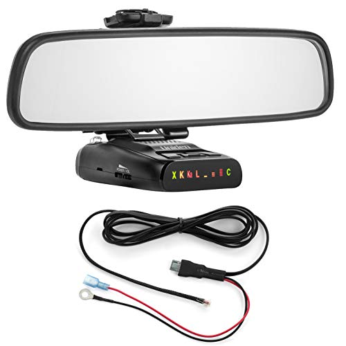 Find Bargain Radar Mount Mirror Mount Bracket + Direct Wire Power Cord for Uniden DFR (3001209)