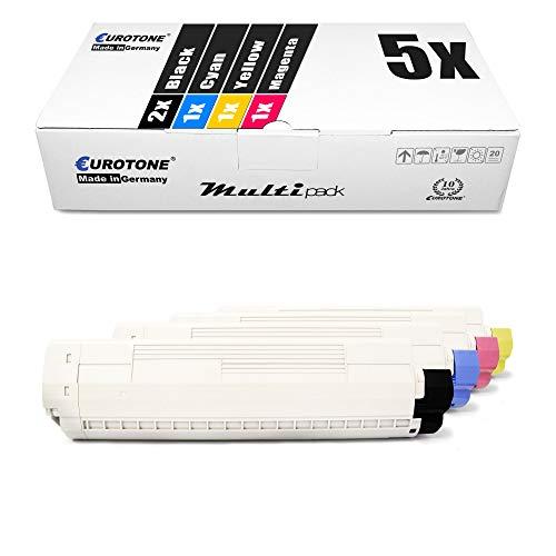 5X Eurotone Toner für Oki MC 853 873 wie Set Black Cyan Magenta Yellow Druckerpatronen Patronen