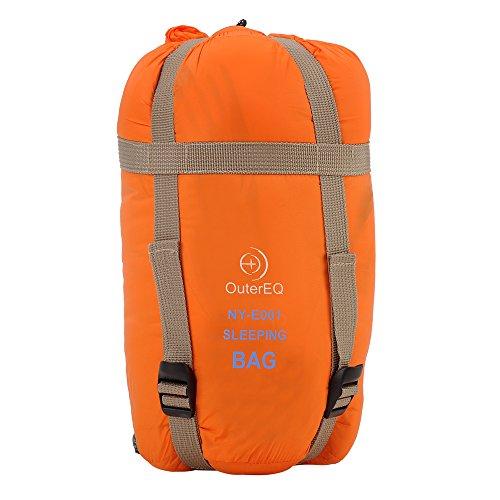 OuterEQ Sleeping Bags Camping Sleeping Bag Orange