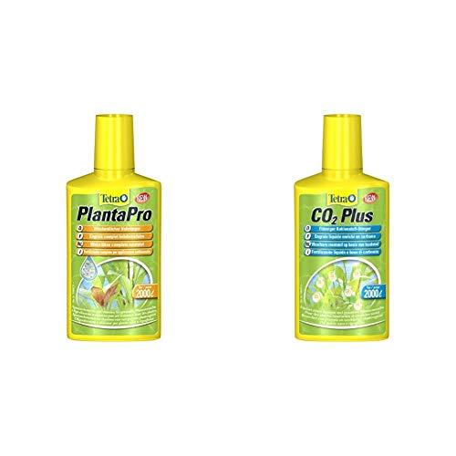 Tetra PlantaPro (wöchentlicher flüssiger Volldünger mit Spurenelementen und Vitaminen), 250 ml Flasche & CO2 Plus flüssiger Kohlenstoff-Dünger für prächtige Aquarienpflanzen, 250 ml Flasche