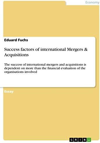 Success factors of international Mergers Acquisitions The success of international mergers and product image