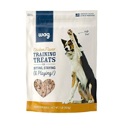Amazon Brand – Wag Chicken Flavor Training Treats for Dogs 1 lb Bag 16 oz