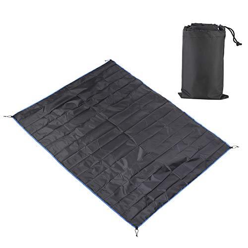 Changor Manta de Camping portátil, Hecha de poliéster para Senderismo al Aire Libre (Negro)