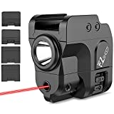 EZshoot 4 Adapter Pistol Red Laser Light Compatible with GL/1913/90two/99/Tsw, 200 Lumens Tactical Handgun Laser Flashlight with Constant/Strobe, USB Magnetic Rechargeable Pistol Light with Red Laser