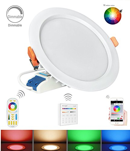 Mi Light Color Changing Ceiling Light LED RGB+Dual White Recessed Ceiling Downlight 15W Waterproof(15W-CCT-WP)