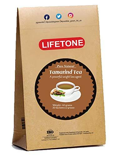 lifetone the tea for better life, Tamarind Tea | Digestion Aid | Cleanse Detox tea |Natural Diuretic Herbal Tea (20 Teabags)