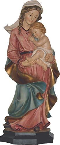 Motivationsgeschenke Mutter Gottes mit Jesukind handbemalt auf Sockel Maria mit Kind