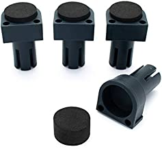 POWERTEC 71188 Deluxe Bench Dog | 4 Pack | Non Marring Durable Nylon| with Grommet Bench Brake Inserts Made of Premium Nonslip EVA| For 3/4