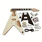 Coban Guitars FV1B Kit de bricolage pour guitare électrique en érable flammé chromé noir