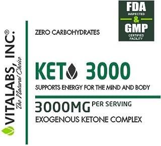低炭水化物状態を作る/ケトジェニックダイエットサポートサプリメント KETO 3000/ Vitalabs 【アメリカより直送】 (120カプセル(30回分))