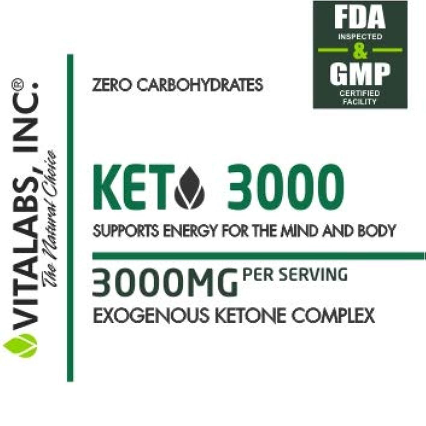 キロメートル重力週末低炭水化物状態を作る/ケトジェニックダイエットサポートサプリメント KETO 3000/ Vitalabs 【アメリカより直送】】 (240カプセル(60回分))
