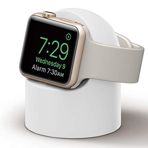 アップルの腕時計の充電スタンド,立体半円,アイデア,個性,Apple watch 1/2/3/4/5/6/SEに適用.ホワイト