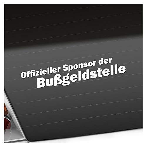 Sponsor der Bußgeldstelle 20 x 4 cm IN 15 FARBEN - Neon + Chrom! Sticker Aufkleber