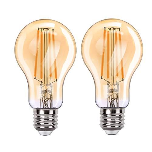 MoKo WIFI Inteligente Edison Bombilla A60, E27 7.5W LED Luz, Funciona con Alexa Echo, Google Home, SmartThings, Voz/Remote Control, Temporizador, 2700K Luz Blanca Cálida, No Requiere Hub - 2 PZS