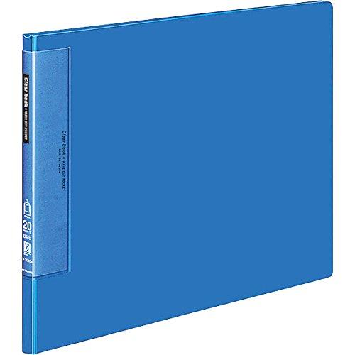 コクヨ ファイル クリアファイル ウェーブカット B4 20ポケット 青 ラ-T569B