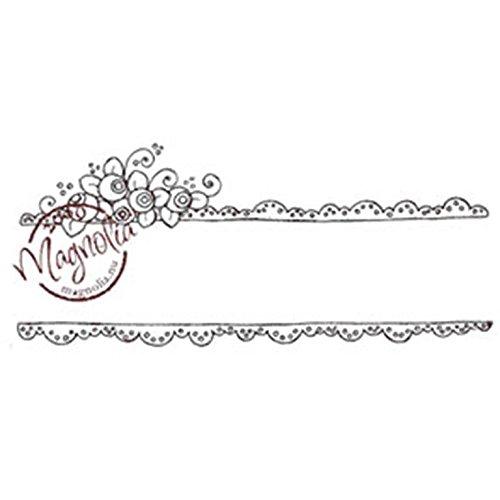 Magnolia fraîcheur Un Peu délicieux pour Votre Ventre en Caoutchouc Tampon 16,5 cm x 3.5 \