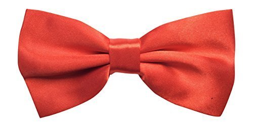 Sock Snob Pour homme en satin rouge luxury réglable (de pie mens plain red bow-tie