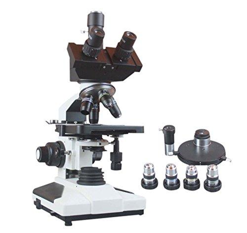 Radical 2500x ad alta potenza professionale Trinocular ricerca contrasto LED microscopio per Blood Sperm batteri analisi W batteria di backup e porta camera