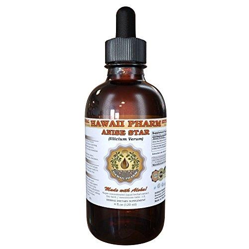 Anise Star Liquid Extract, Organic Anise star (Illicium verum) Tincture Supplement 4 oz