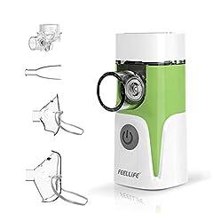 Inhalator, Przenośny nebulizator, z funkcją muzyczną, z maską i ustnikiem dla dorosłych i dzieci, do chorób układu oddechowego