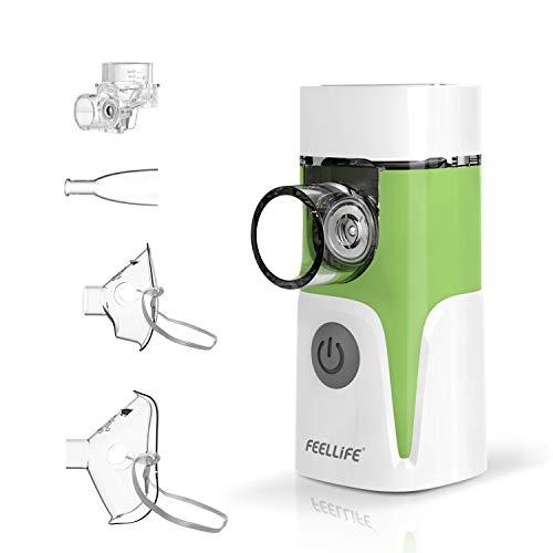 Inhalator, Tragbar Vernebler, mit Musik-Funktion, mit Maske und Mundstück für Erwachsene und Kinder, für Atemwegserkrankungen