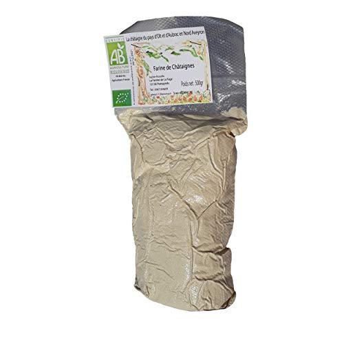 Farine de chataigne, culture Bio issu de châtaignier centenaire châtaignes produite en Aveyron, ramassage traditionnel manuel, naturellement sans gluten, La Ferme de La Fage exploitation familiale