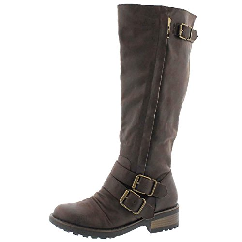 SoftMoc Women's Blixi III Riding Boot Dk Brown 39 M EU