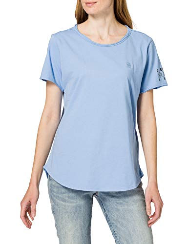 G-STAR RAW Womens Mysid Optic Slim T-Shirt, Delta Blue C506-1852, S