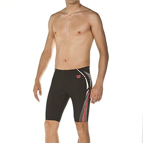 arena Herren Sport Badehose Energy Jammer (Schnelltrocknend, UV-Schutz UPF 50+, Chlorbeständig, Kordelzug), Black (500), 5
