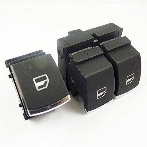 Lot de 2 interrupteurs électriques chromés pour fenêtre 5K3959857 pour Golf Rabbit GTI R32 2006 2007 2008 2009