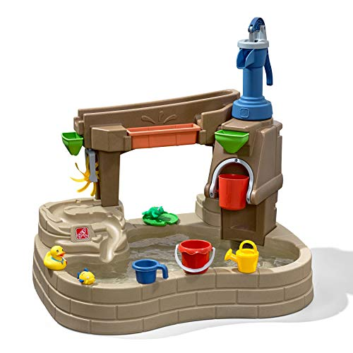 Step2 Pump & Splash Discovery Pond Water Table | Outdoor Water Toy with Water Pump