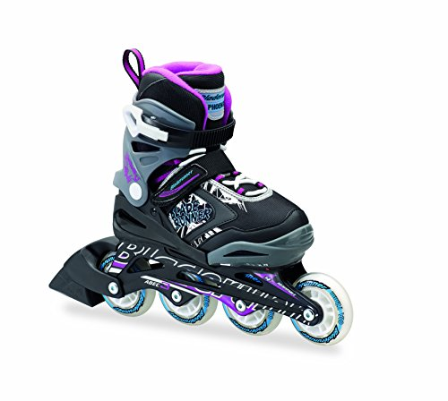 Discover Bargain Rollerblade Phoenix - 4 Size Adjustable Junior Skate - Girls 2016, Black/Purple, 11...