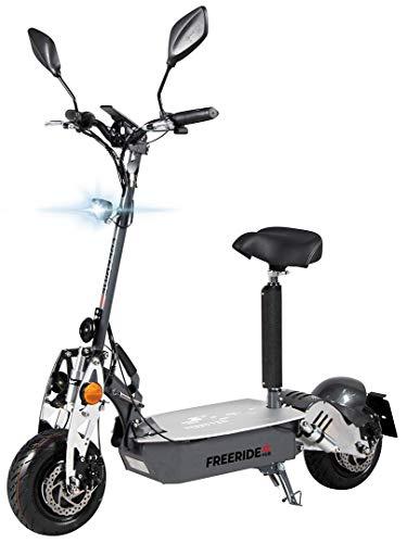 eFlux Freeride X2 Elektroroller Scooter - 2500 Watt Motor - Straßenzulassung - 60 Volt Hub-Version - Bis zu 45 Km/h - E-Scooter (Grau)
